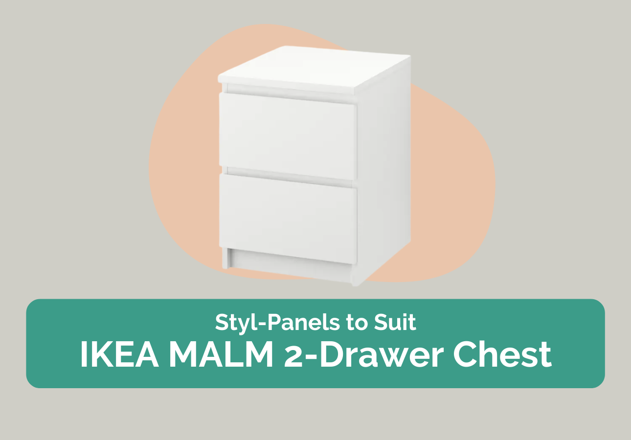 Styl-Panels to suit IKEA Malm 2-drawer chest