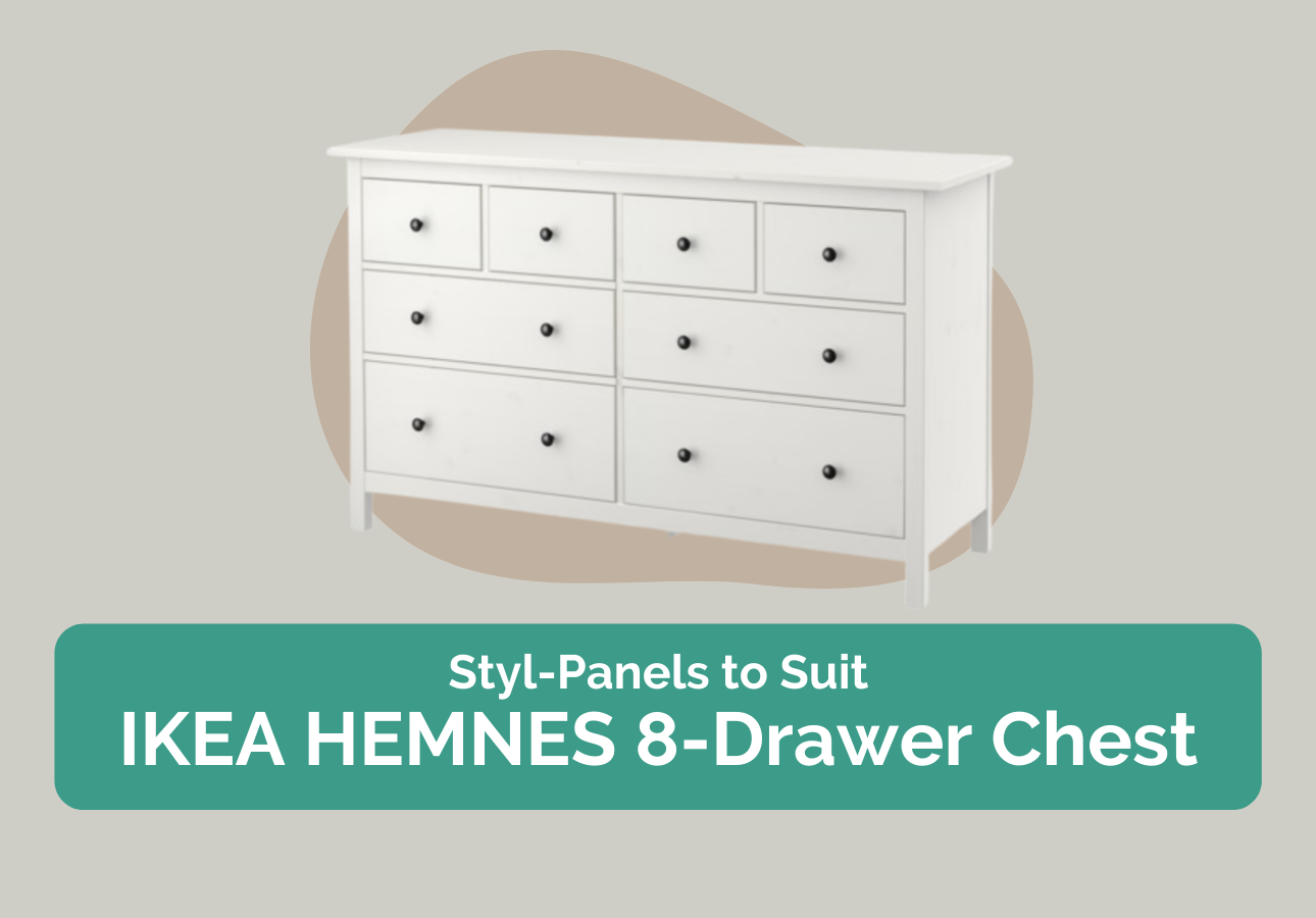 Styl-Panels to suit IKEA Hemnes 8-drawer chest