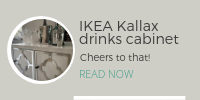 DIY project: IKEA Kallax drinks cabinet