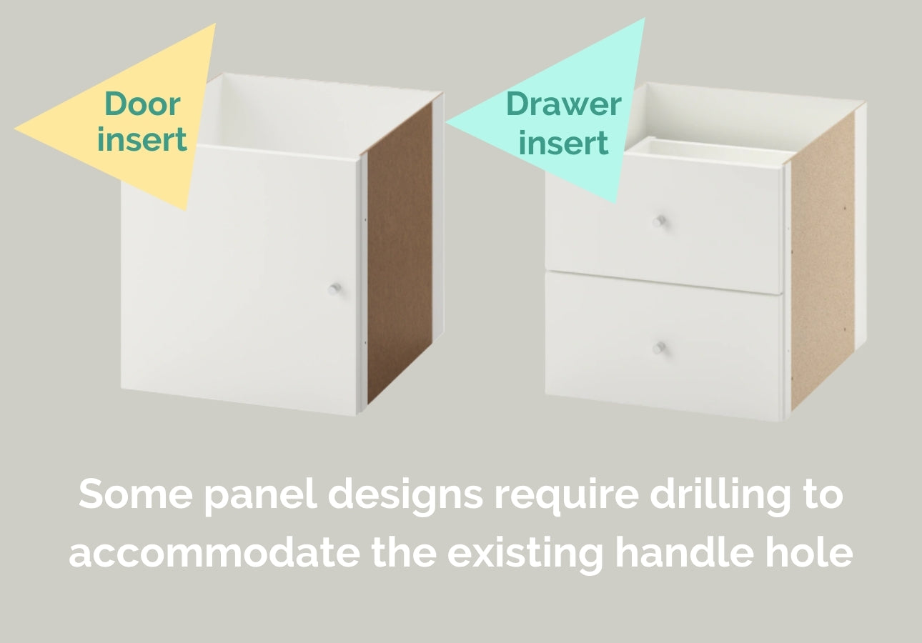 IKEA Kallax comes with drawer or door inserts