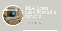 IKEA Besta back-lit media console