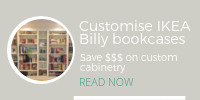 IKEA billy bookcase looks like custom cabinetry