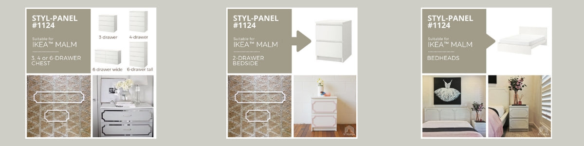 Matching Styl-panels for IKEA MALM furniture
