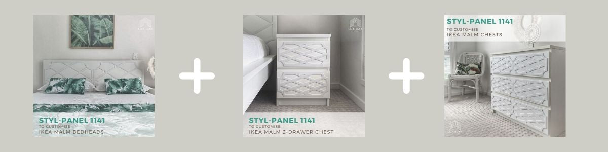 Create a matching bedroom suite with the help Lux Hax
