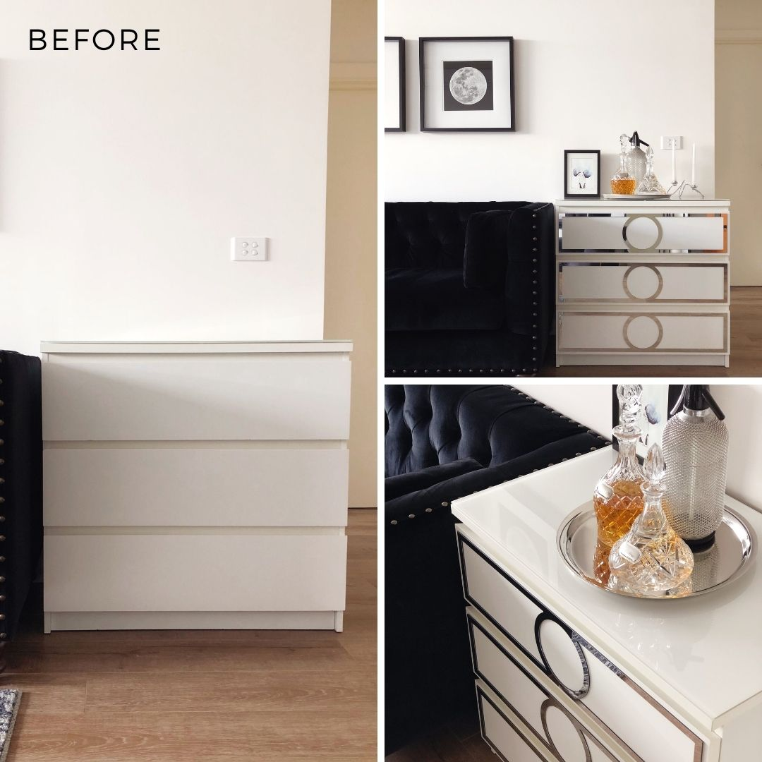 Before and after furniture photography