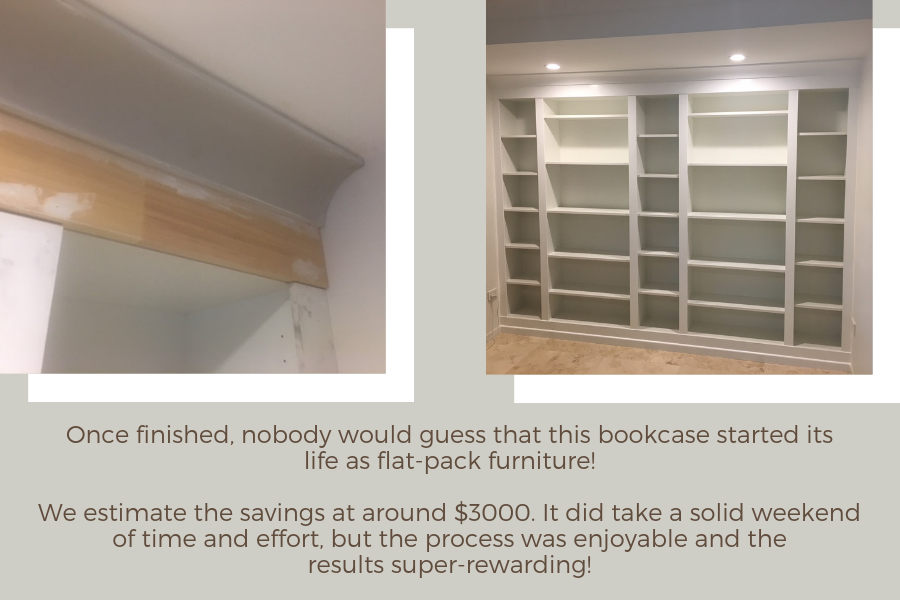 DIY Project: Built-in IKEA BILLY Bookcase – Lux Hax