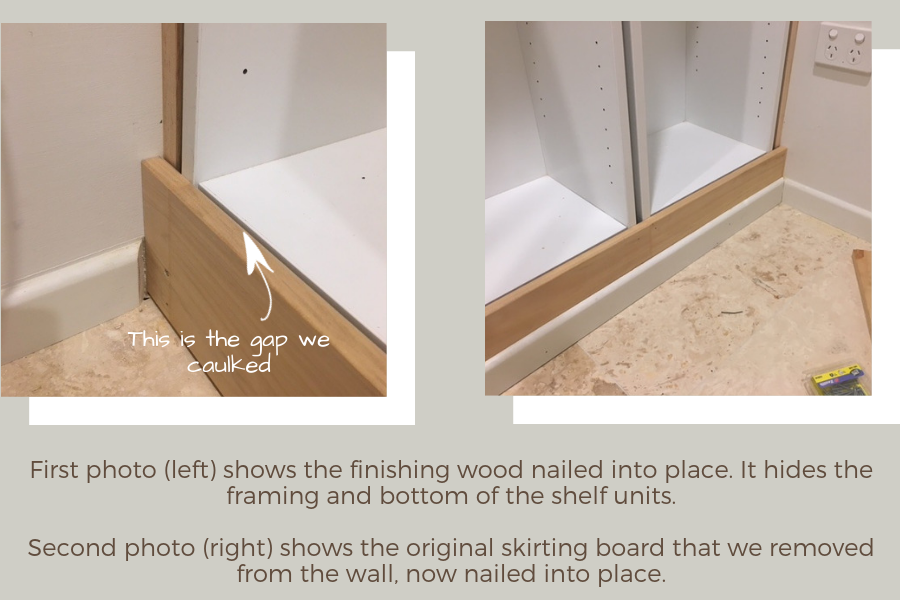 IKEA Billy bookcase hack: attach front finishing wood