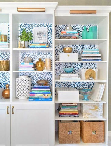 Option: wallpaper the back of your Billy bookcase