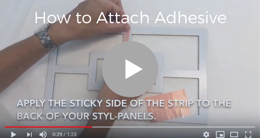 How to attach adhesive strips to your overlay Styl-Panels