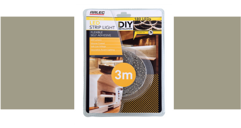 Flexible LED strip lighting for cabinetry