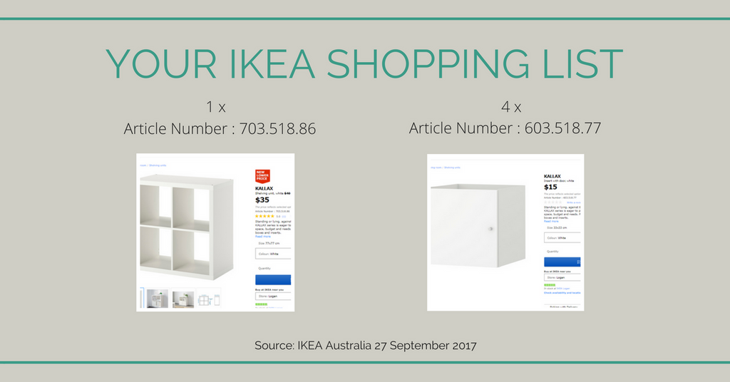 Your IKEA shopping list