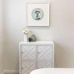 Luxury IKEA hacks - Kallax storage unit for the bedroom