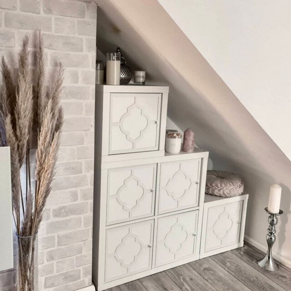Miss Stone's Home has created an IKEA Kallax storage hutch under her stairs