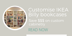 Built-in IKEA Billy bookcase project