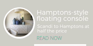 Hamptons floating console
