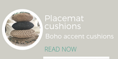Boho placemat cushions