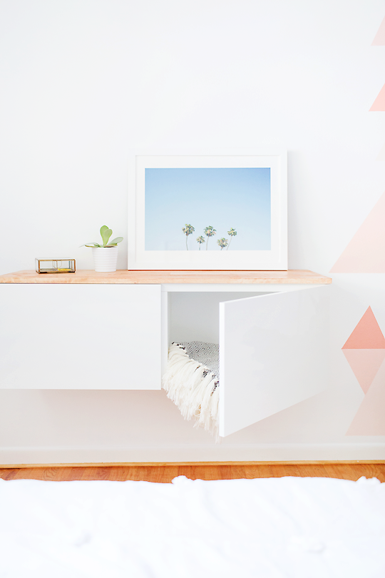 DIY floating credenza from IKEA BESTA