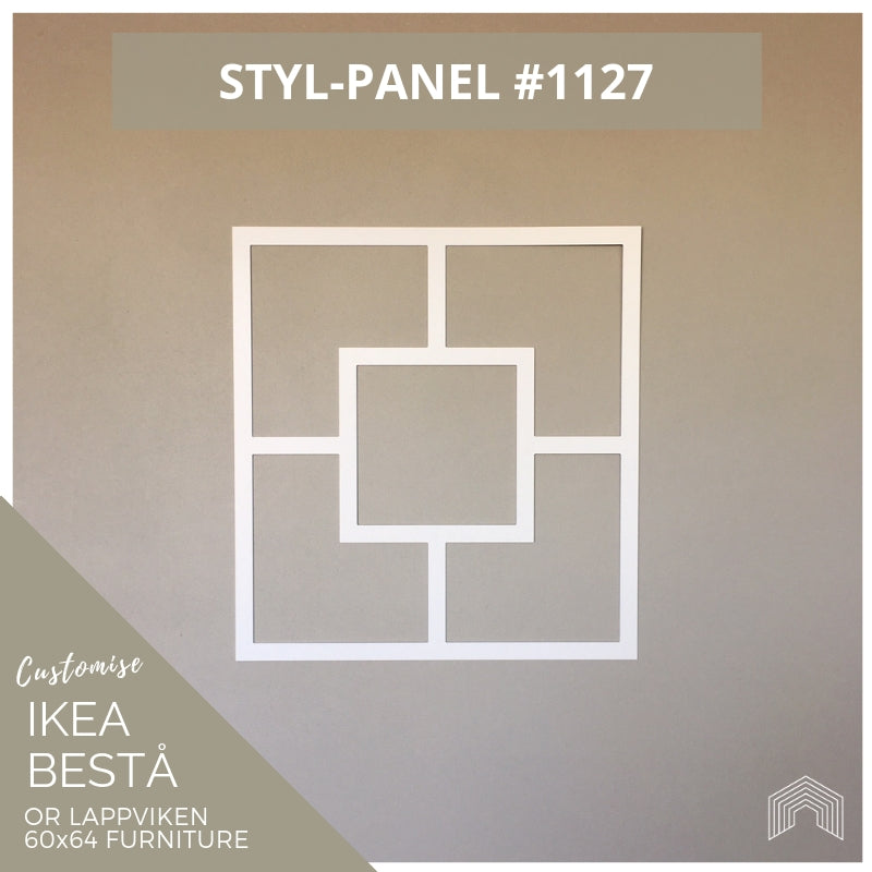 Styl-Panel #1127 to suit IKEA Besta 60x64 furniture
