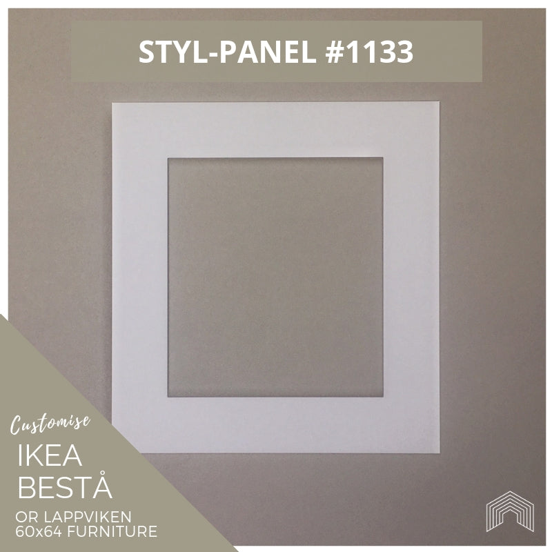 Styl-Panel #1133 to suit IKEA Besta 60x64 furniture