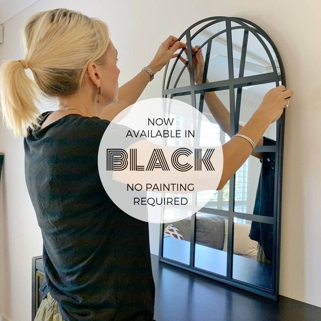 Kmart hack - add panels to Kmart Arch Mirror - now in black
