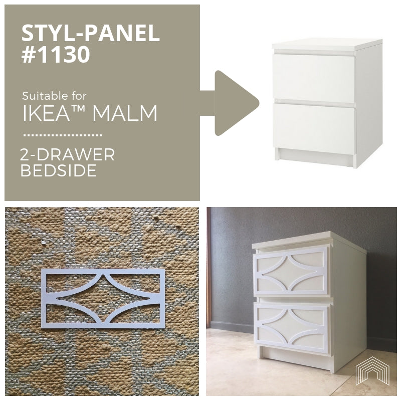 Styl-Panel Kit: #1130 to suit IKEA Malm 2-drawer bedside table