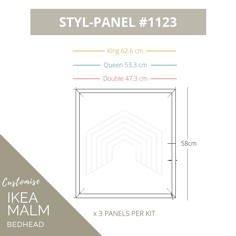 Styl-Panel Kit: #1123 to suit IKEA MALM bedheads