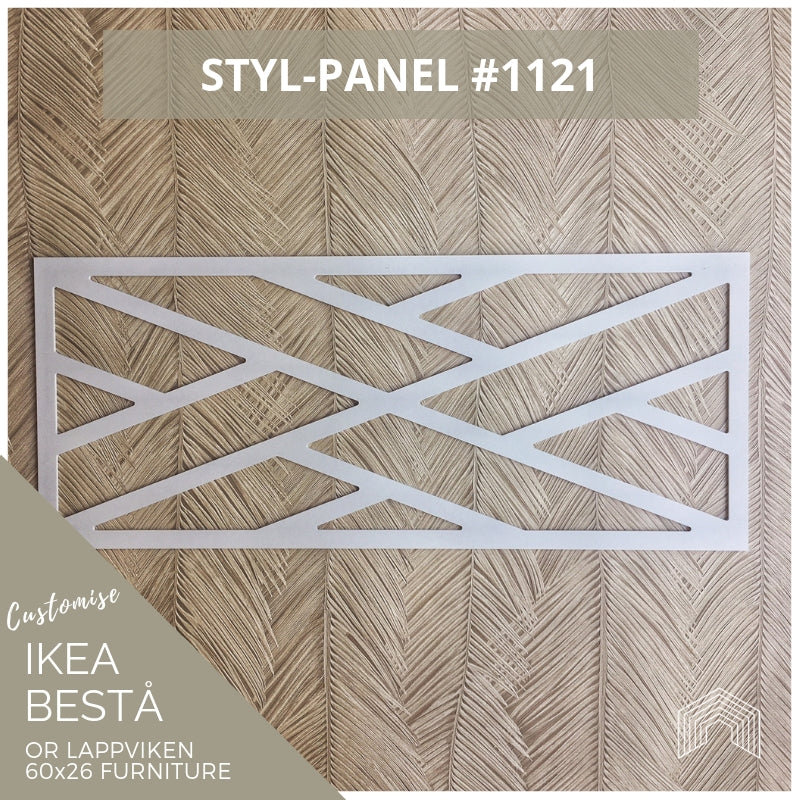 Styl-Panel #1121 to suit IKEA Besta 60x26 furniture