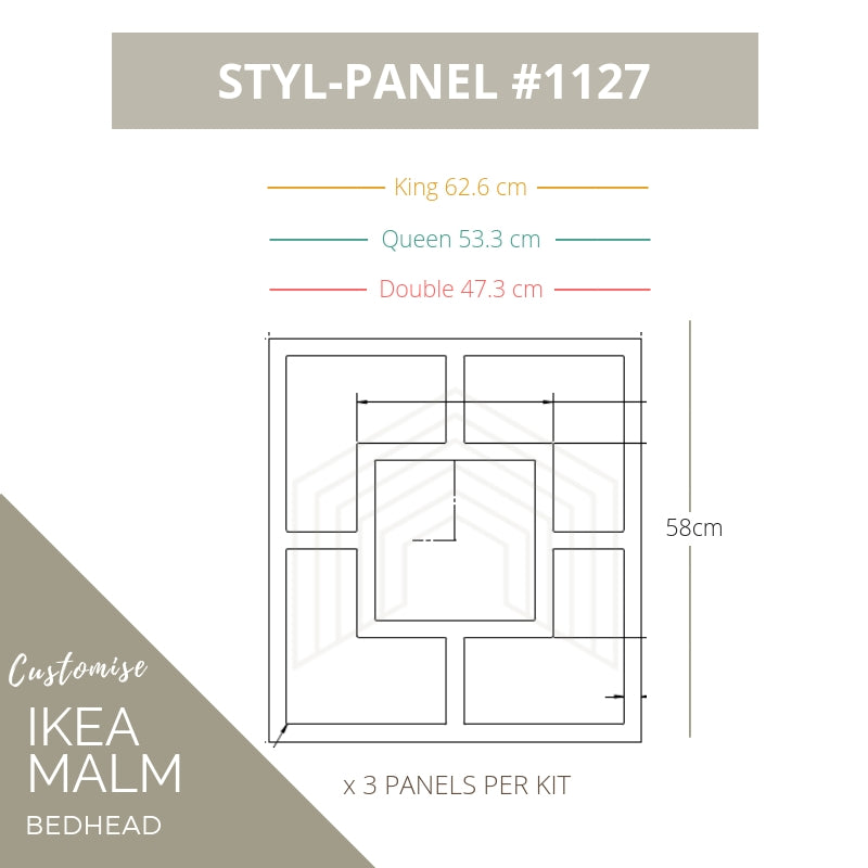 Styl-Panel Kit: #1127 to suit IKEA MALM bedheads