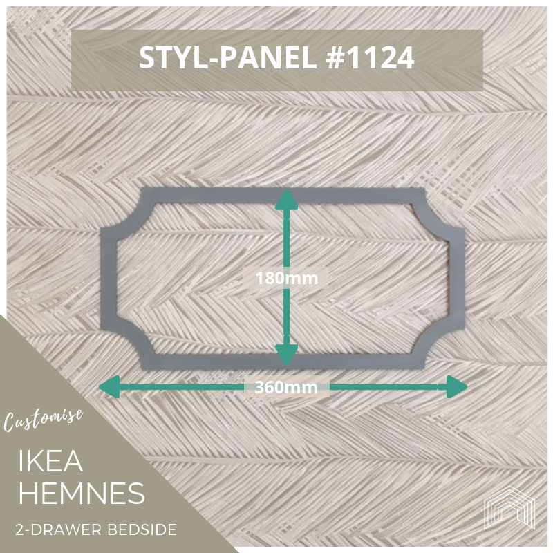 Styl-Panel Kit: #1124 to suit IKEA Hemnes 2-drawer bedside table