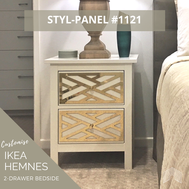 Styl-Panel Kit: #1121 to suit IKEA Hemnes 2-drawer bedside table
