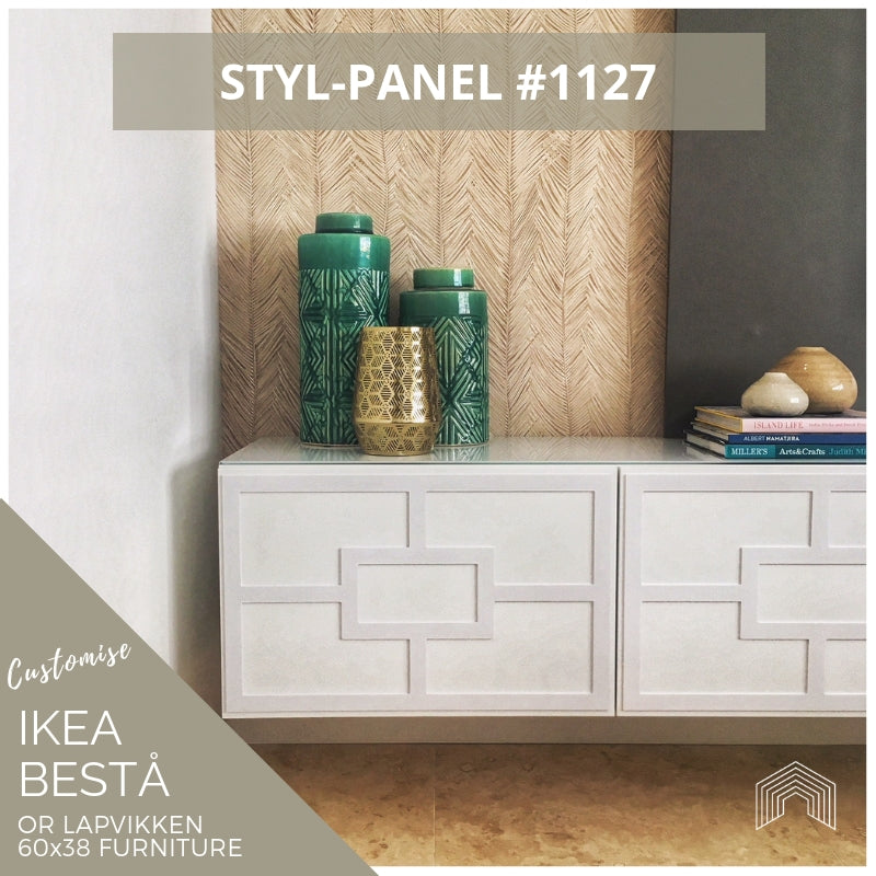Styl-Panel #1127 to suit Ikea Besta 60x38 furniture