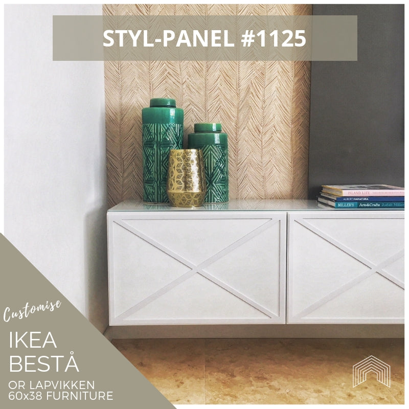 Styl-Panel #1125 to suit IKEA Besta 60x38 furniture *WHITE SHELF STOCK*