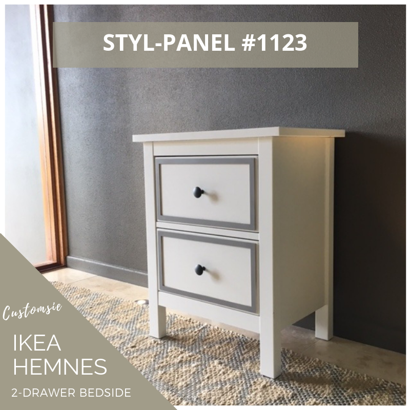 Styl-Panel Kit: #1123 to suit IKEA Hemnes 2-drawer bedside table