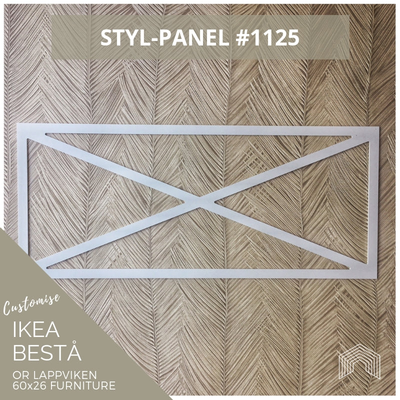 Styl-Panel #1125 to suit IKEA Besta 60x26 furniture