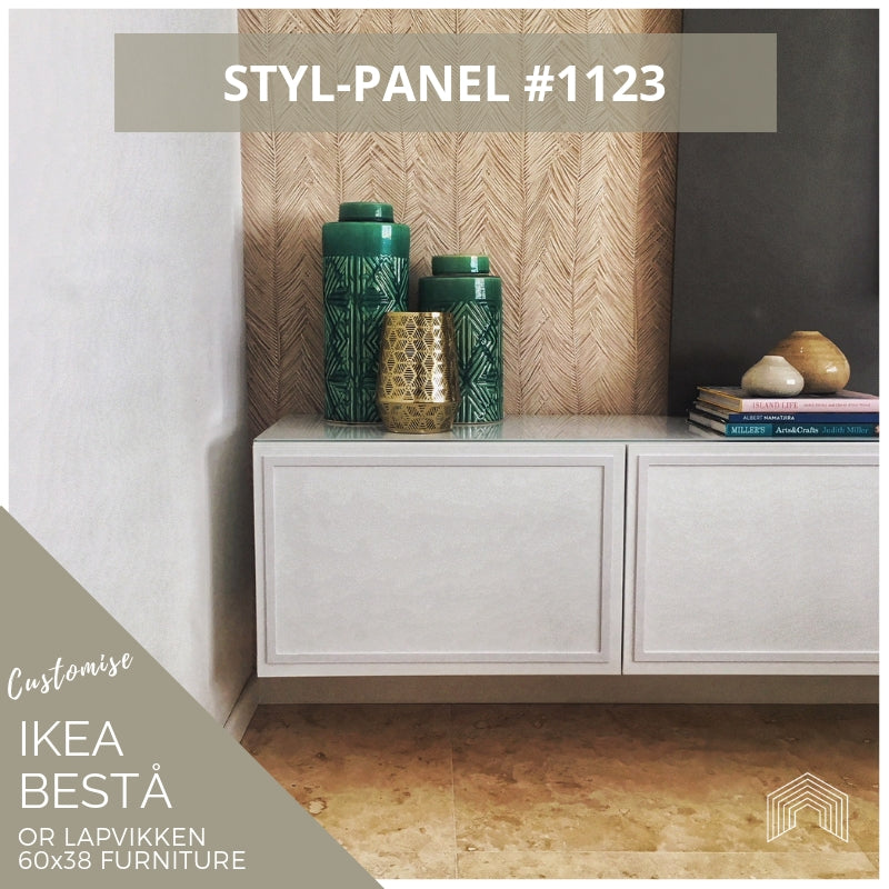 Styl-Panel #1123 to suit IKEA Besta 60x38 furniture