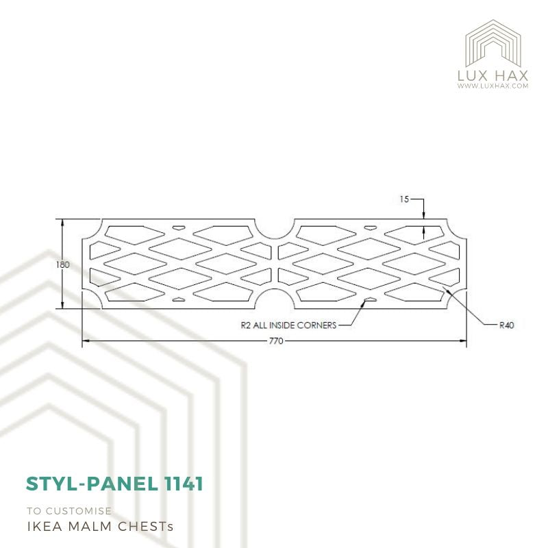 Styl-Panel Kit: #1141 to Suit IKEA Malm 3 or 4 or 6-Drawer Chest