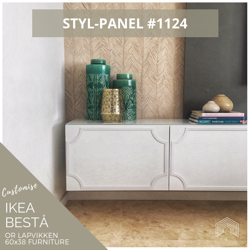 Styl-Panel #1124 to suit IKEA Besta 60x38 furniture *GOLD SHELF STOCK*