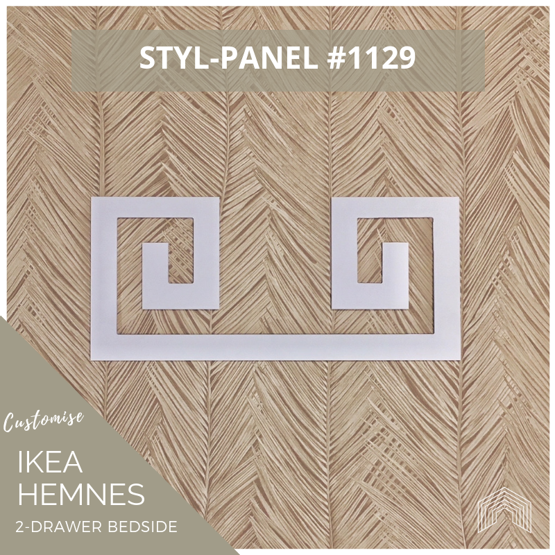 Styl-Panel Kit: #1129 to suit IKEA Hemnes 2-drawer bedside table