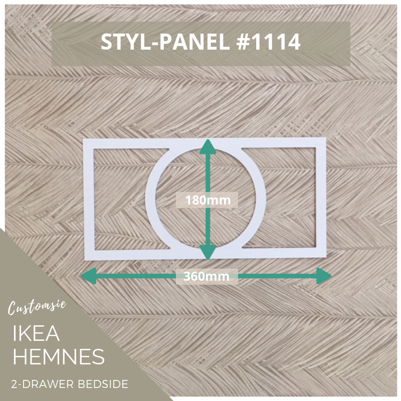 Styl-Panel Kit: #1114 to suit IKEA Hemnes 2-drawer bedside table