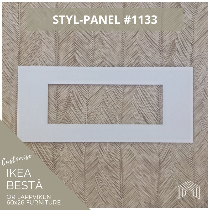 Styl-Panel #1133 to suit IKEA Besta 60x26 furniture