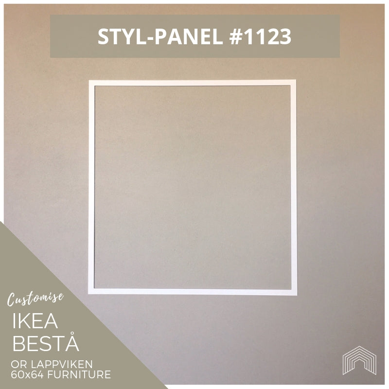 Styl-Panel #1123 to suit IKEA Besta 60x64 furniture