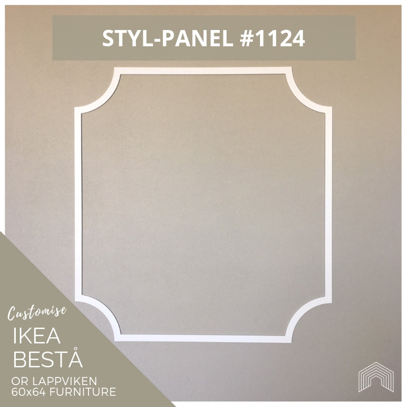 Styl-Panel #1124 to suit IKEA Besta 60x64 furniture