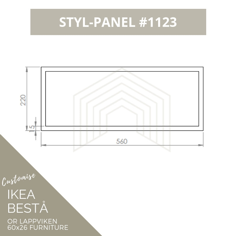 Styl-Panel #1123 to suit IKEA Besta 60x26 furniture