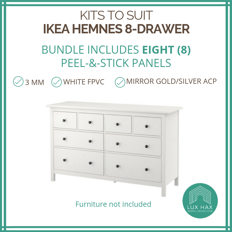 Styl-Panel Kit: #1123 to suit IKEA Hemnes 8-drawer dresser