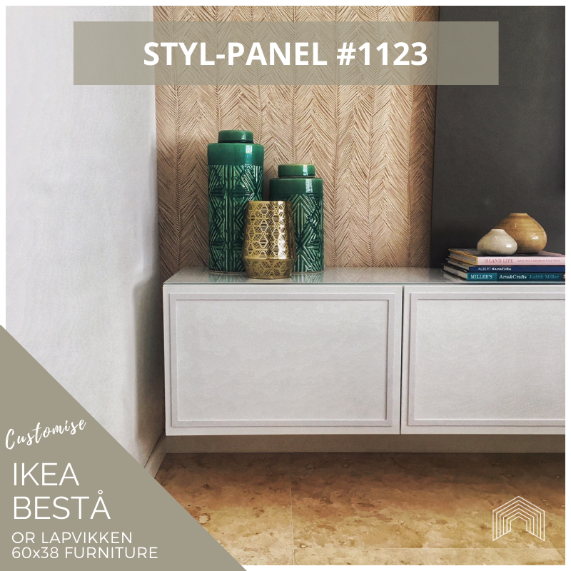 Styl-Panel #1123 to suit IKEA Besta 60x38 furniture *SILVER SHELF STOCK*