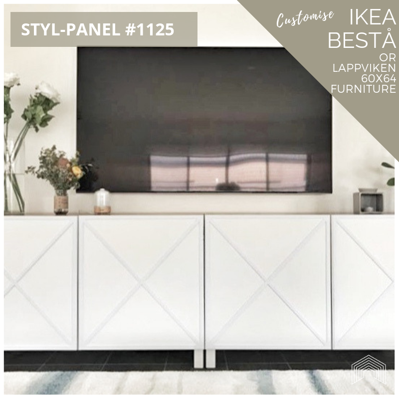 Styl-Panel #1125 to suit IKEA Besta 60x64 furniture