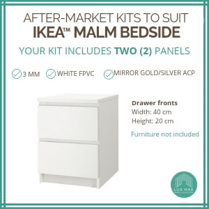 Styl-Panel Kit: #1114 to suit IKEA Malm 2-drawer bedside table
