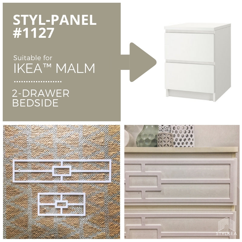 Styl-Panel 1127 to suit IKEA MALM bedside table