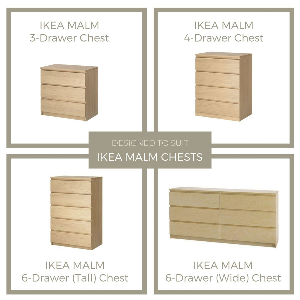 Styl-Panel Kit: #1114 to suit IKEA Malm 3 or 4 or 6-drawer chest