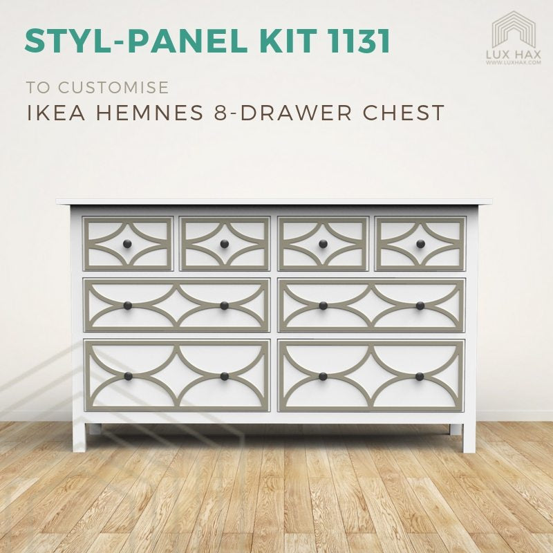 Styl-Panel Kit: #1131 to suit IKEA Hemnes 8-drawer chest
